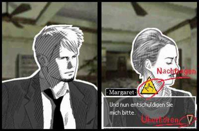 In den Splitscreen-Dialogen entscheidet ihr - weiterbohren oder Verhör abbrechen.