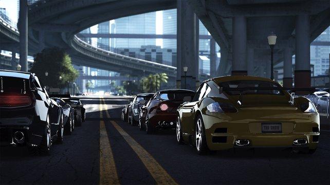Auf der Schnellstraße in Miami ist die Hölle los.