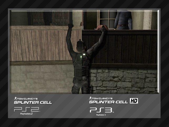 Die grafischen Verbesserungen von Splinter Cell HD sind im direkten Vergleich deutlich zu sehen.