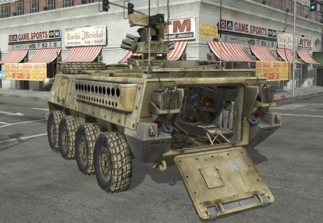 Dieses Fahrzeug könnte euch als Transportmittel im Mehrspieler-Modus dienen.