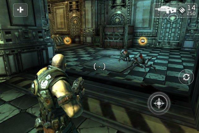 Explodierende Roboterspinnen: ausschließlich Soldaten als Gegner wäre ja auch langweilig.