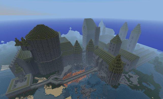 Hogwarts - das zurzeit wohl eindrucksvollste Minecraft-Bauwerk.