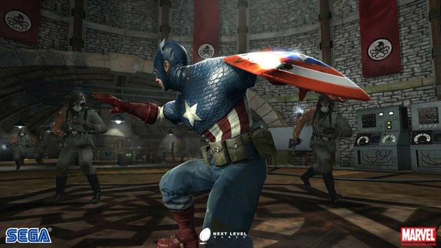 Das Kostüm von Captain America ist im Spiel super dargestellt.