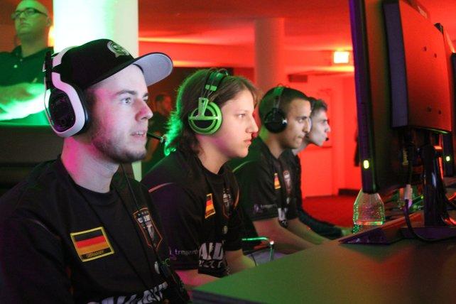Killerfish konzentriert: In den Vorrunden macht die deutsche Mannschaft eine tolle Figur.