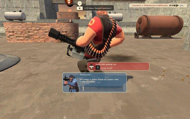 Das gibt Rache: nach dem Ableben zeigt das Spiel den Mörder in Großaufnahme.