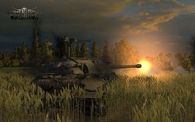 Vor den Panzern ist in World of Tanks kein Fleckchen Erde sicher.