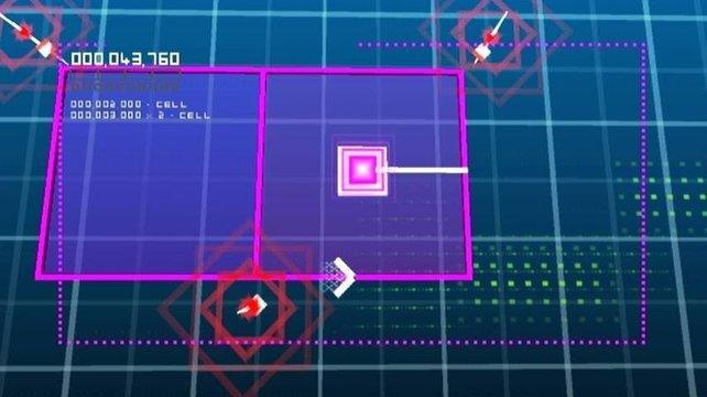 Mit seinen Neonfarben und den klaren Linien sieht escapeVektor stilvoll aus.