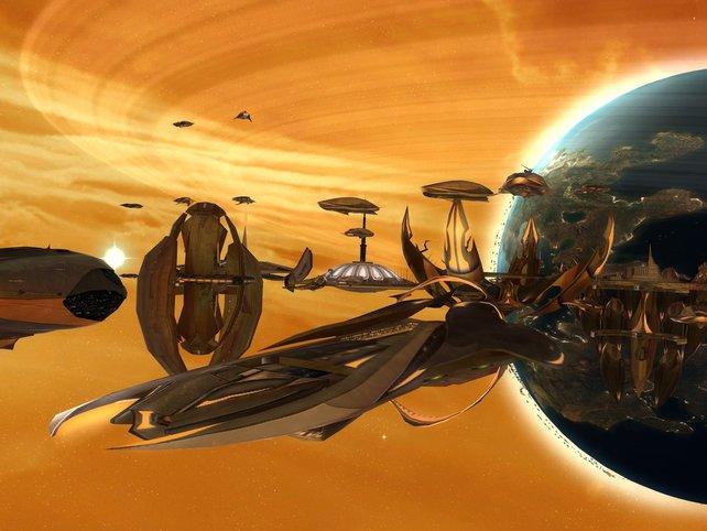 In der höchsten Zoomstufe werden den Raumgleitern viele Details entlockt.