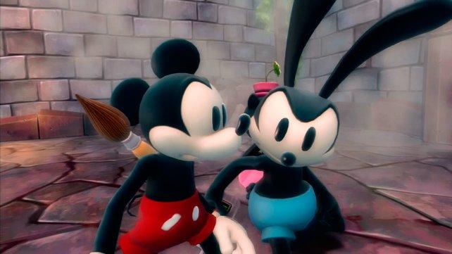 Oswald (rechts) stellt sich teils recht dumm an.