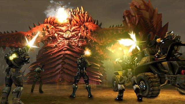 Sobald solche Riesenbosse auftauchen, werden alle Spieler auf dem Server informiert und zum Kampf aufgerufen.