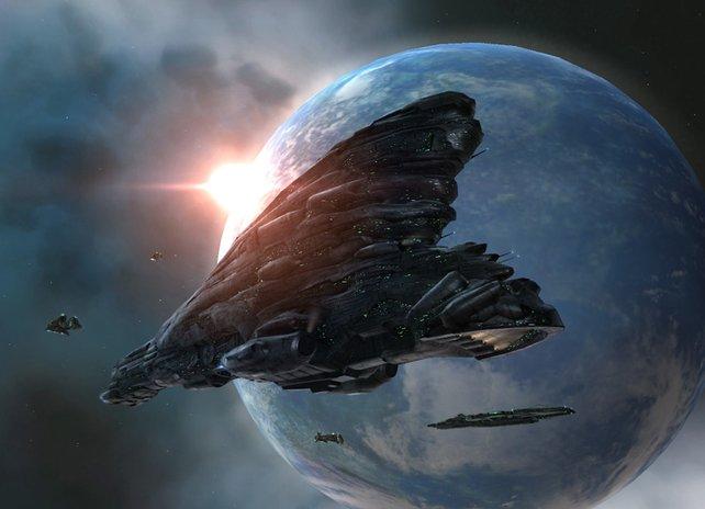 Eve Online schafft trotz des Alters zum Teil wunderschöne Weltraum-Panoramen.