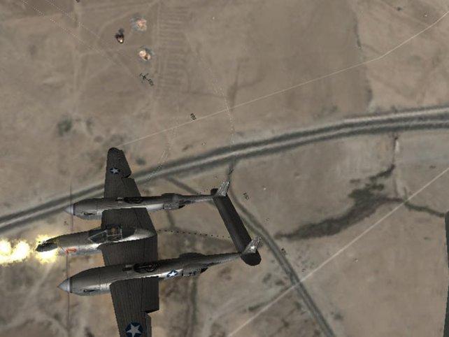 Die blitzschnelle P-38 Lightning müsst ihr euch hart verdienen.