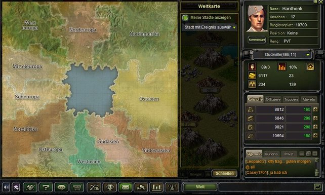 Selbst die Kontinente fließen in die Standortwahl mit ein.