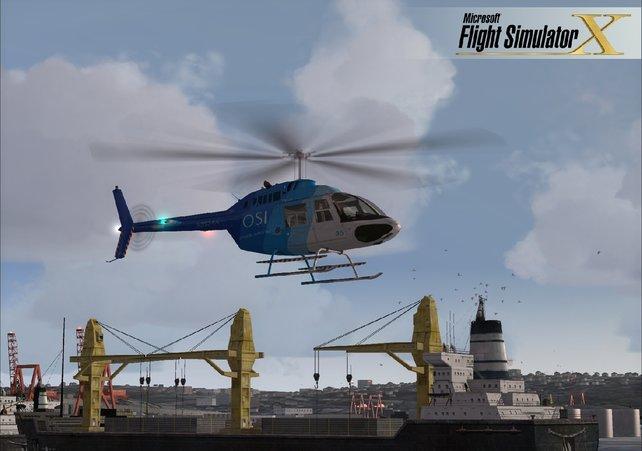 Auch Hubschrauber haben den Weg ins Spiel gefunden