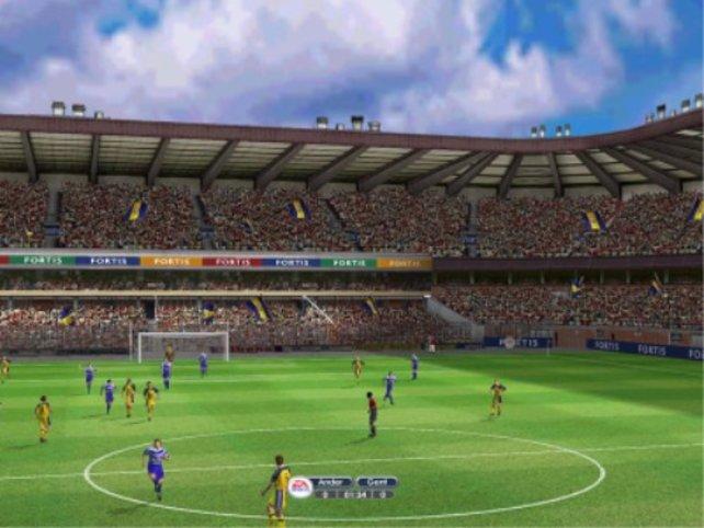 Beeindruckende Fußballatmosphäre