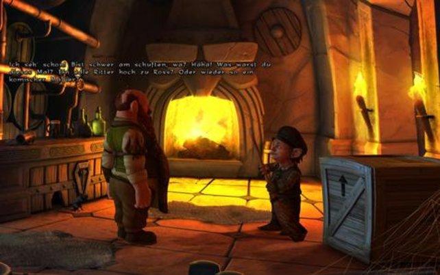 Der kleine Gnom Wilbur (rechts) gehört zu den vier spielbaren Charakteren.