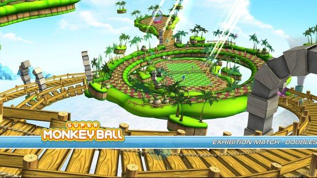 Die Tennisplätze liegen in optisch hübschen Gegenden mit viel Sega-Flair.