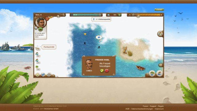 Ein weiterer Inselbewohner wurde gefunden und wird im nächsten Schritt besucht.