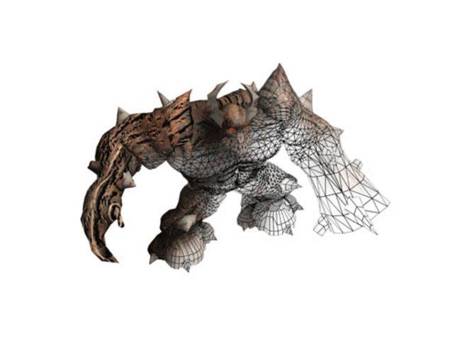Für jedes Monster gibt es ein aufwendiges Drahtgittermodell