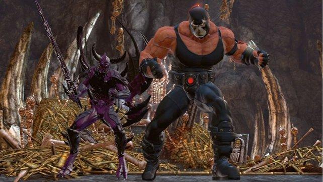 Ihr kämpft in DC Universe Online Seite an Seite von bekannten Comic-Helden. Im Bild ist Batmans Widersacher Bane.