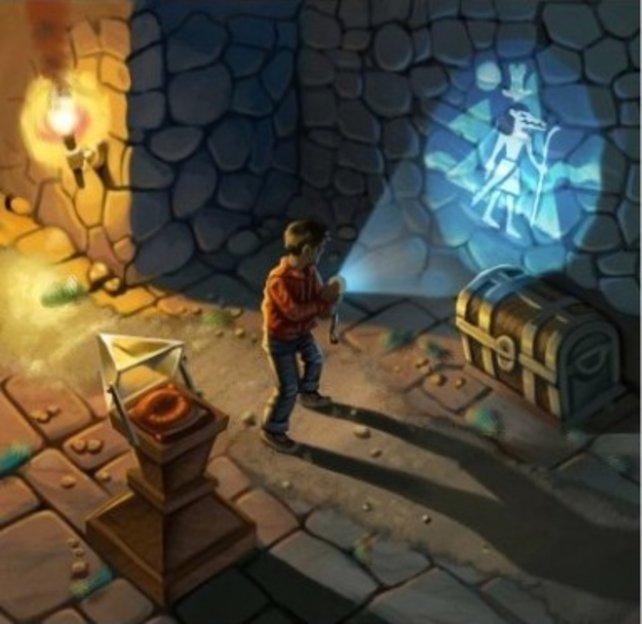 Ein Bild aus der Story: Alok sucht einen Schatz