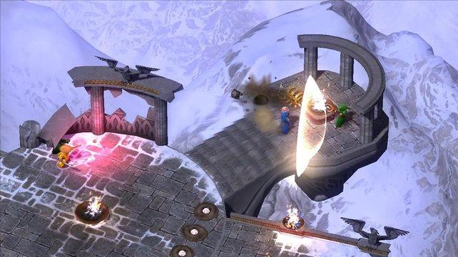 In bunter Comic-Grafik überzeugt Magicka vor allem im Koop-Modus.