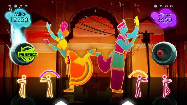 In Just Dance 2 treffen moderne Songs auf gewöhnungsbedürftige Tänze.
