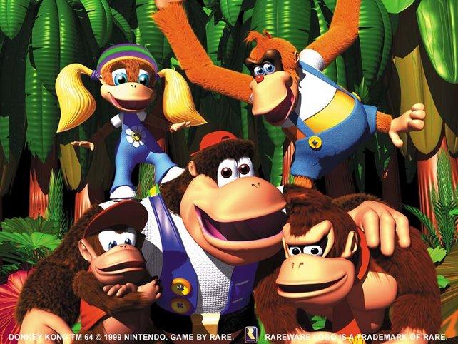 In Donkey Kong 64 lernen wir endlich die ganze exzentrische Familie Kong kennen.