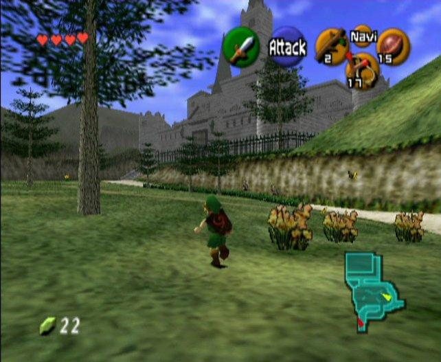 Link beschreitet erstmals dreidimensionale Wege auf dem N64.