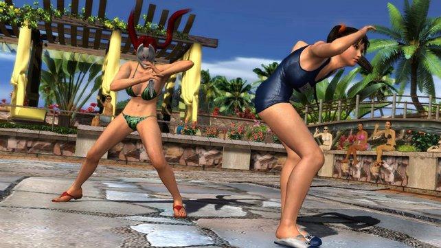 Ling ist das brave Schulmädchen, Kunimitsu setzt auf Bikini.