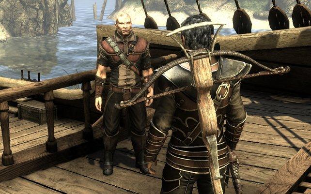 Auf dem Piratenschiff erhaltet ihr die ersten neuen Aufträge.