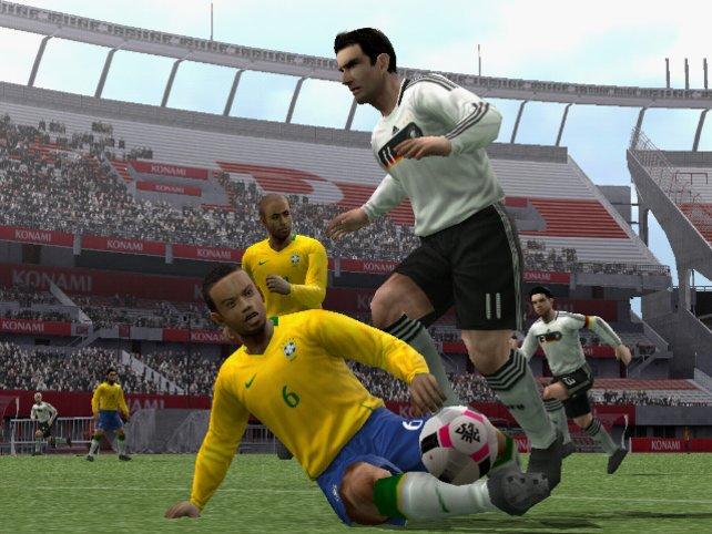 Wenigstens die deutsche Nationalmannschaft ist ins Spiel integriert worden.