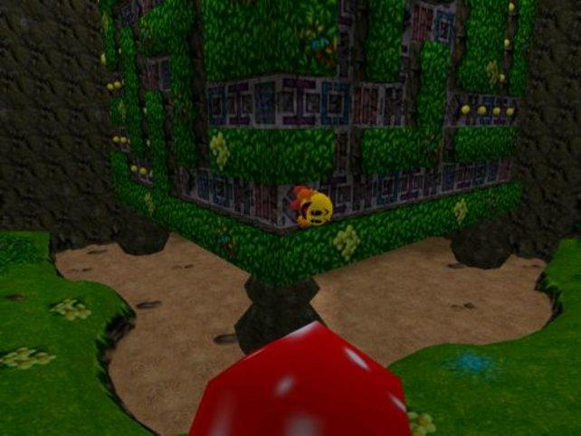 Spezialstiefel ermöglichen Pac-Man das Laufen an der Wand.