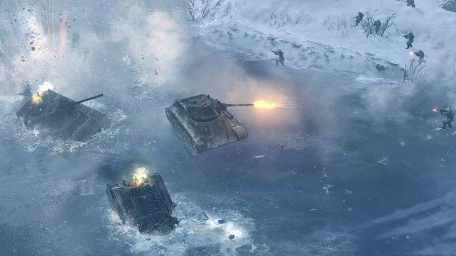 Auf dünnem Eis hilft auch keine überlegene Feuerkraft mehr.