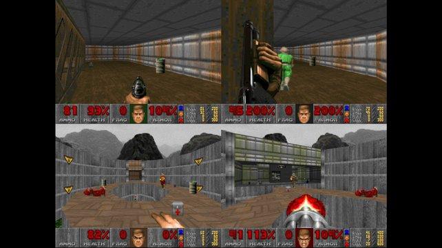 In der Xbox-Live-Fassung gibt es auch einen geteilten Bildschirm für vier Spieler.