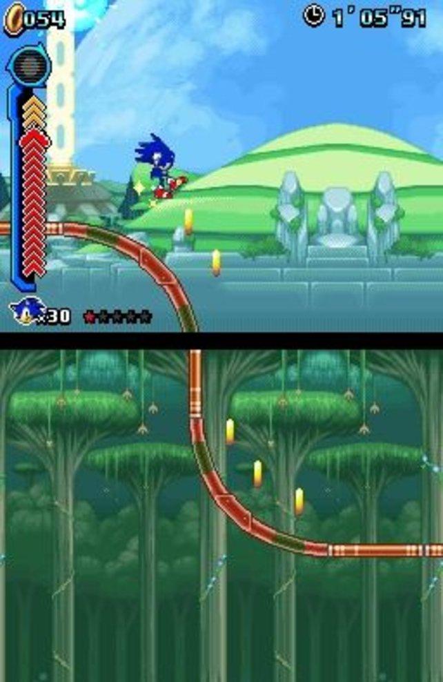 Sonic Colours nutzt beide Bildschirme des Nintendo DS.