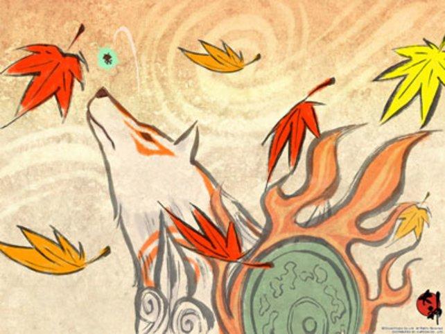 Wöfin Amaterasu und Koropokel Issun sind die Hauptcharaktere von Okami.