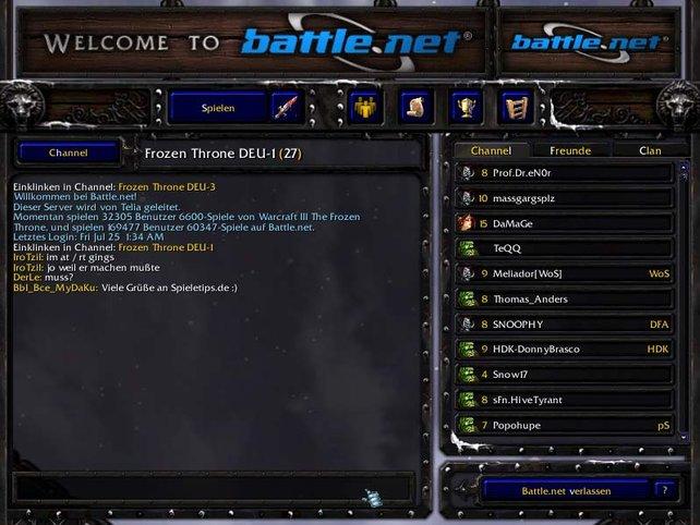 Battle.Net-Oberfläche