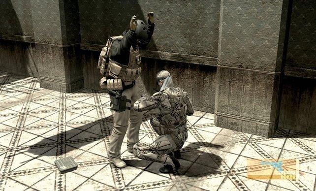Auch lebende Gegner können nach Objekten durchsucht werden.