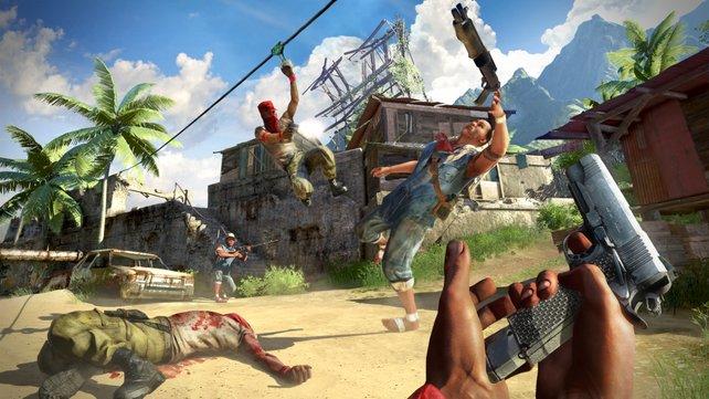 Im Mehrspieler-Modus mit bis zu 14 Spielern kämpfen Rebellen gegen Piraten.