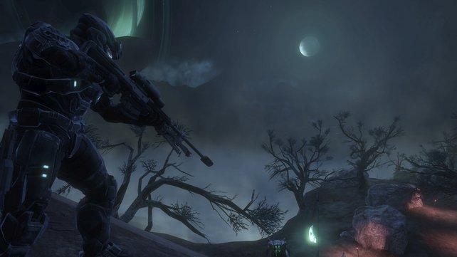 Reach bei Nacht: Das Setting im vierten Halo-Teil soll düsterer sein als in den Vorgängern.