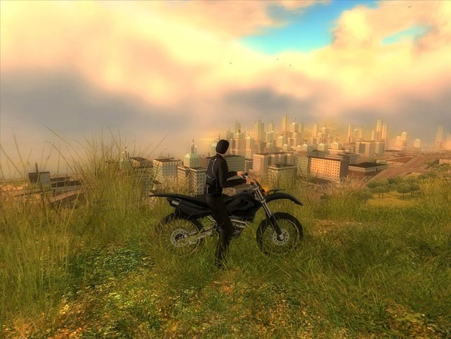 Das Motorrad, eines der über 50 Fahrzeuge