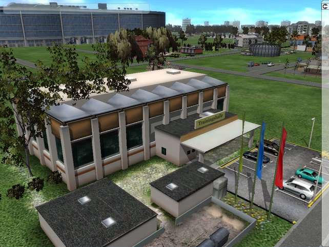 Das Vereinsgelände wird in 3D dargestellt