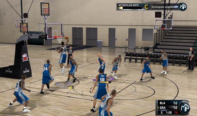 Anfänglich spielt ihr in leeren Sporthallen, erst spät warten riesige NBA-Arenen auf euch.