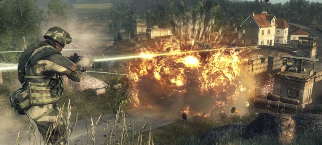 Der Konsolenableger Bad Company legt den Fokus mehr auf den Einzelspieler-Modus.