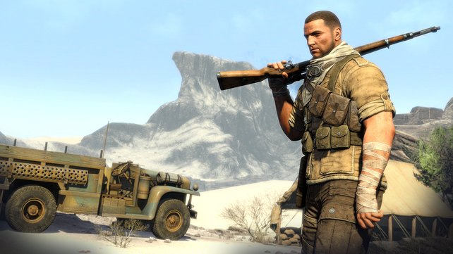 Ein Mann und sein Gewehr: Die Schussmechanik soll im Spiel besonders realistisch ausfallen.