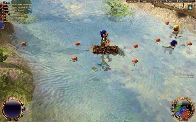 Eure Siedler können nun auch kurze Strecken schwimmen.