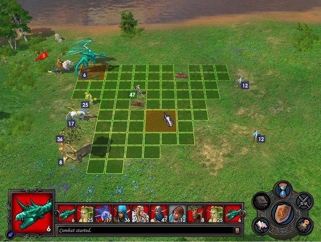 In Heroes of Might & Magic ziehen die Spieler ihre Einheiten abwechselnd (im Bild: Heroes 5).