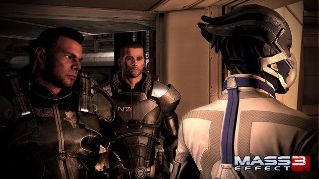Was nun? Shepard berät sich mit seiner Mannschaft.