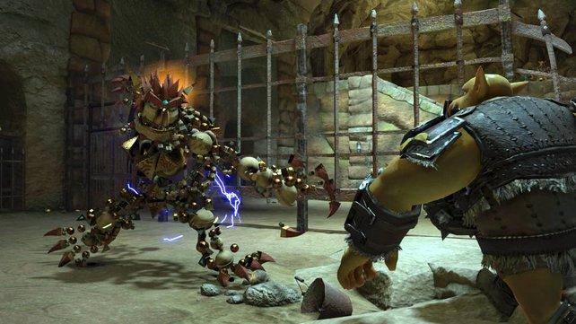 Knack ist auf Zack und weiß sich auch als niedlicher Roboter zu wehren.